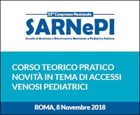 Corso Teorico Pratico - Novità in Tema di Accessi Venosi Pediatrici