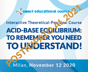 CORSO RESIDENZIALE<br>Interactive Theoretical-Practical Course - ACID-BASE EQUILIBRIUM: TO REMEMBER YOU NEED TO UNDERSTAND!