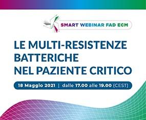 FAD ECM - Webinar<br>Le Multi-Resistenze Batteriche nel Paziente Critico