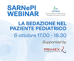 SARNEPI WEBINAR<br>La Sedazione nel Paziente Pediatricco